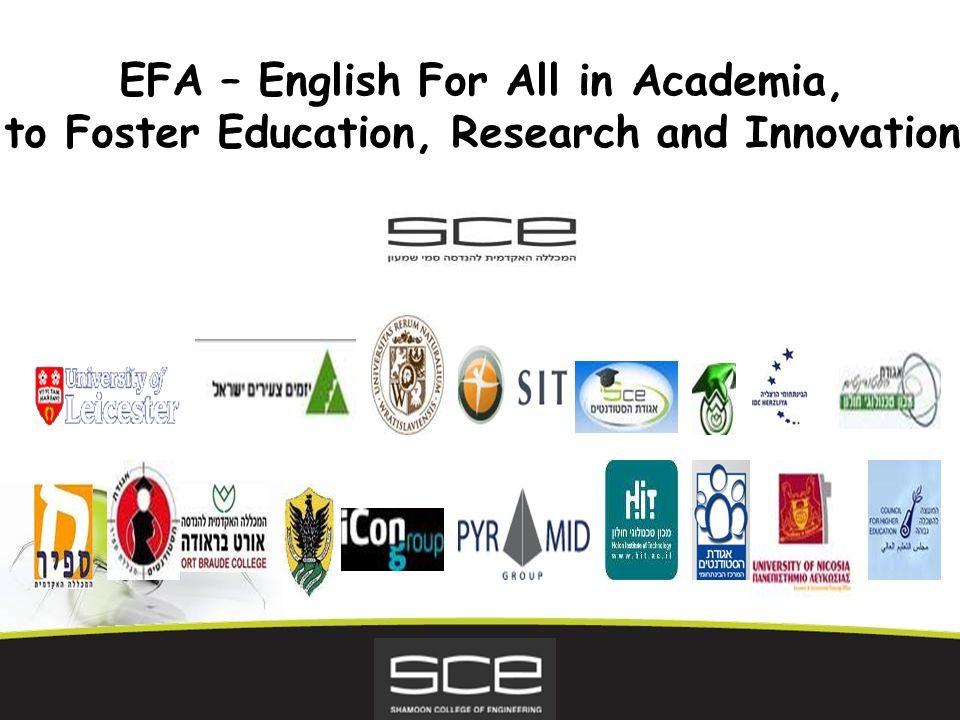EFA – English For All in Academia, to Foster Education, Research and Innovation