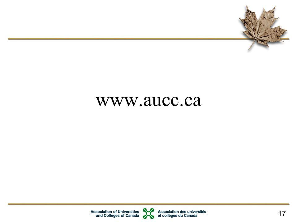 17 www.aucc.ca