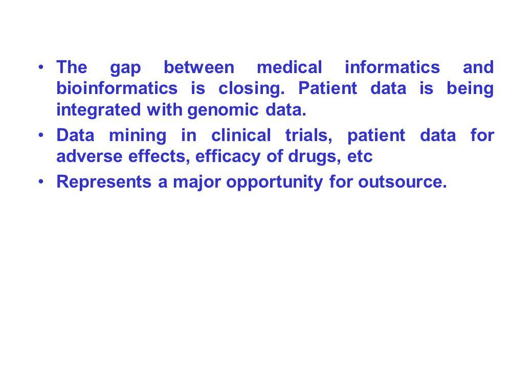 The gap between medical informatics and bioinformatics is closing.