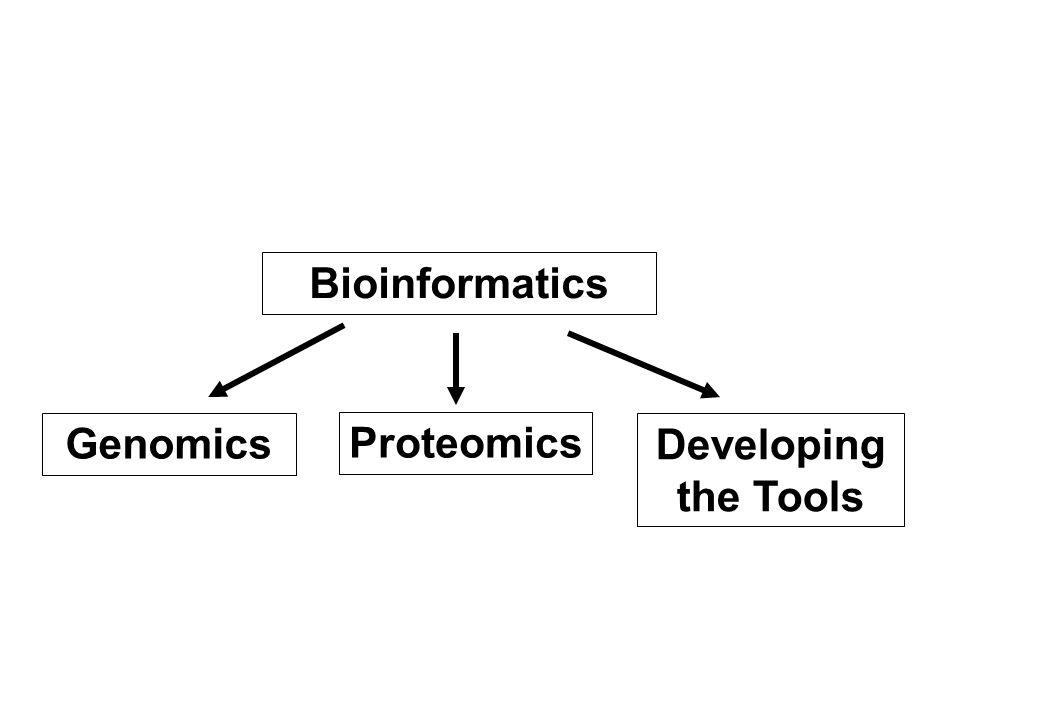 Bioinformatics Genomics Proteomics Developing the Tools