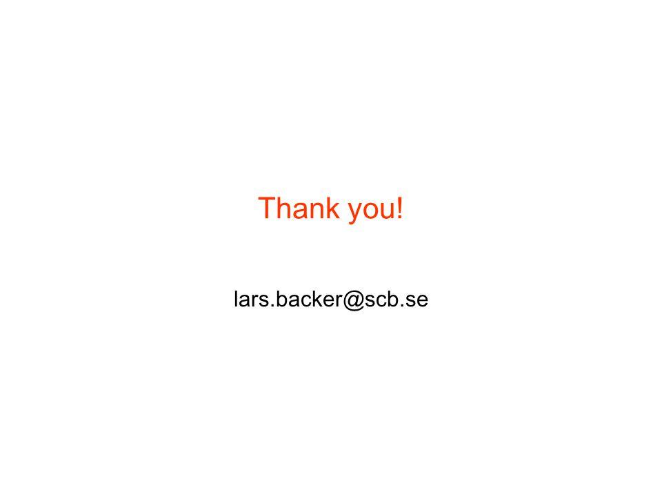 Thank you! lars.backer@scb.se