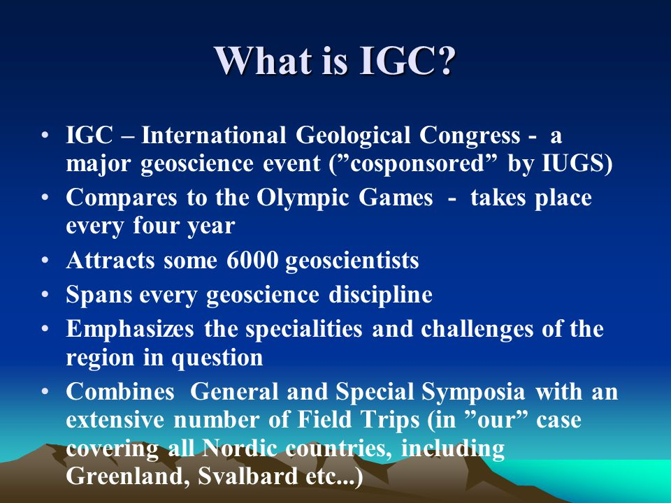 What is IGC.