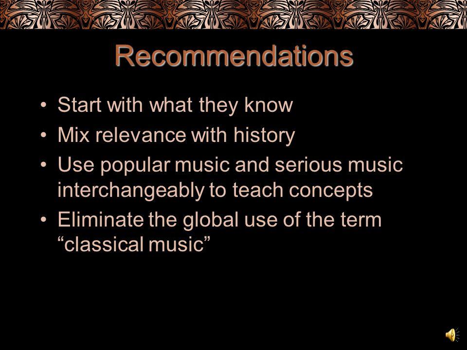 Music Education Student disconnect Teacher bias
