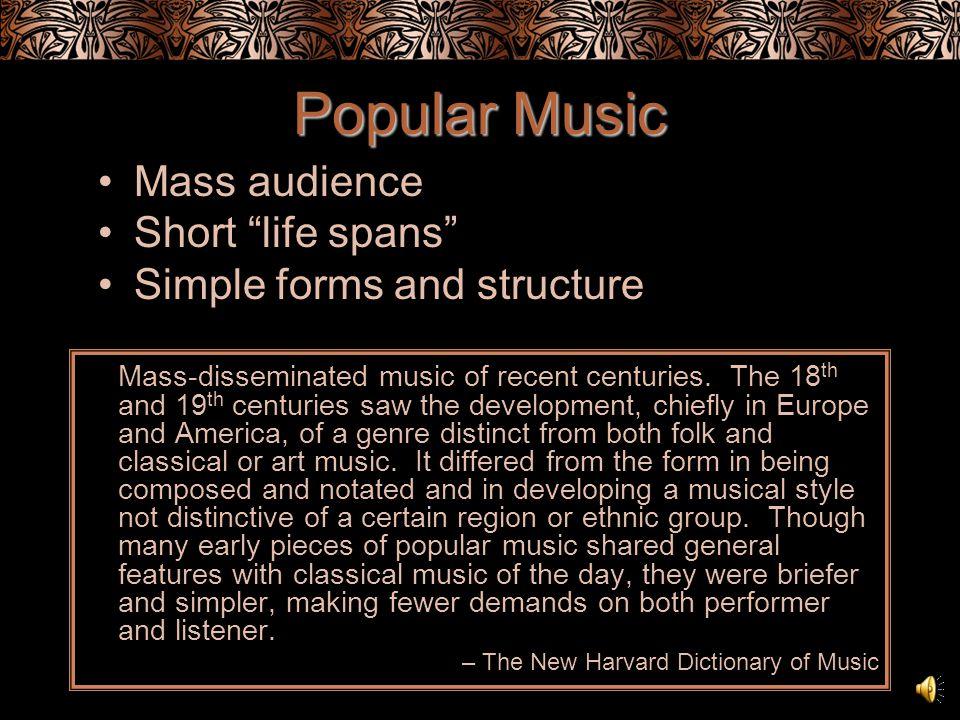 Popular Popular Music