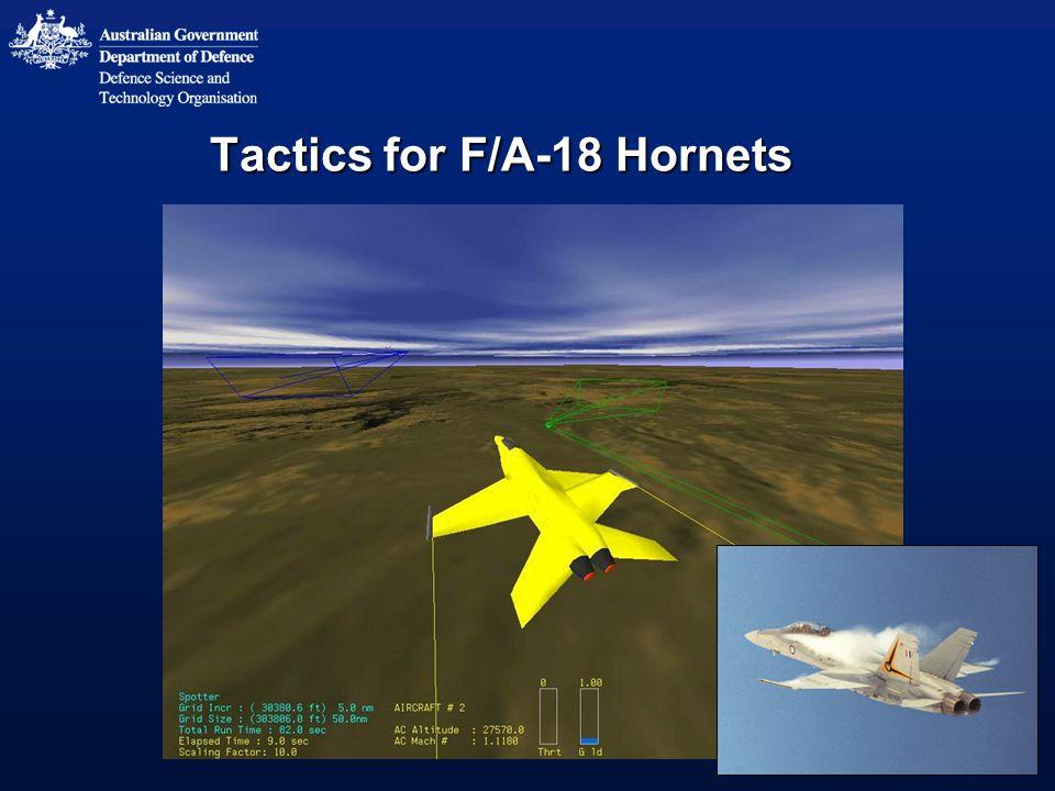 Tactics for F/A-18 Hornets
