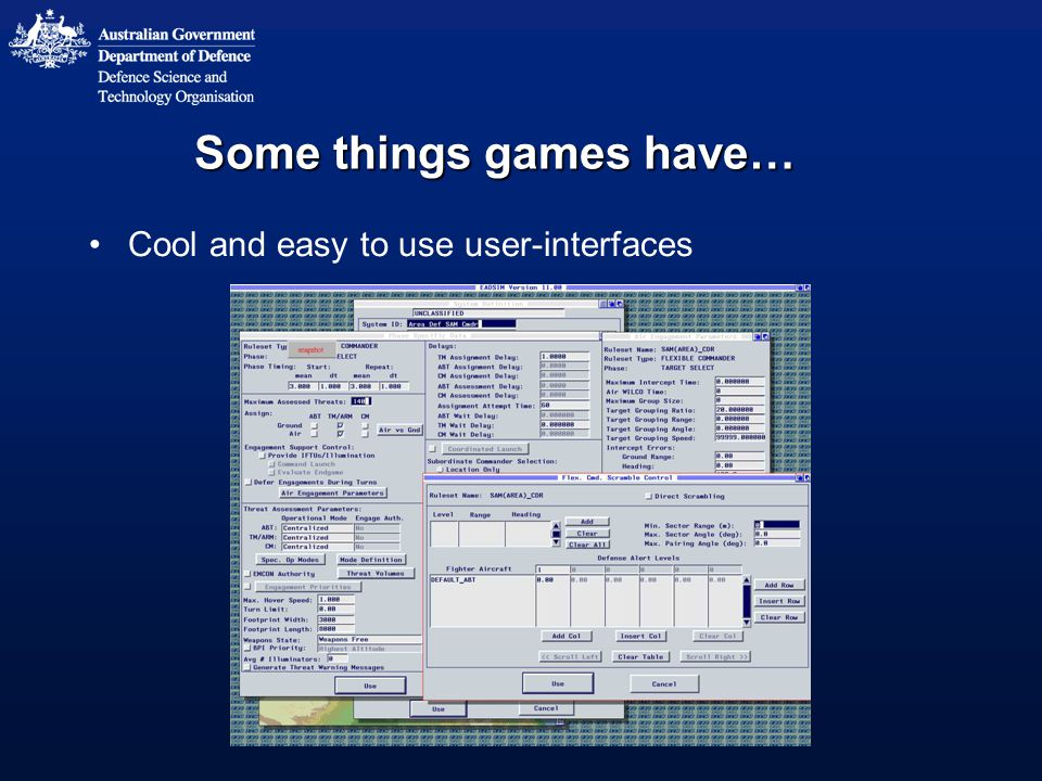 Some things games have… Cool and easy to use user-interfaces