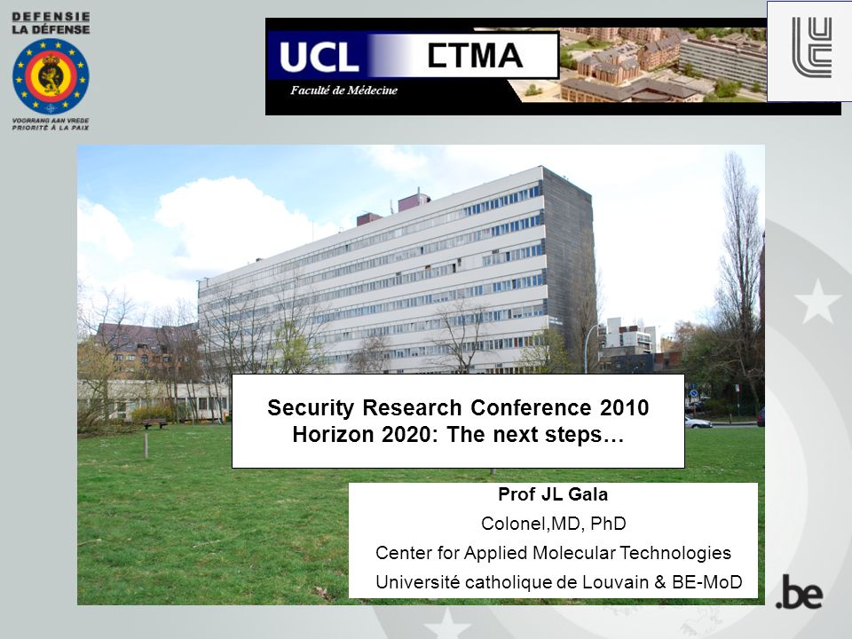 Messages from Day 1 Opening session Where do we stand today with Security Research (...FP7) .