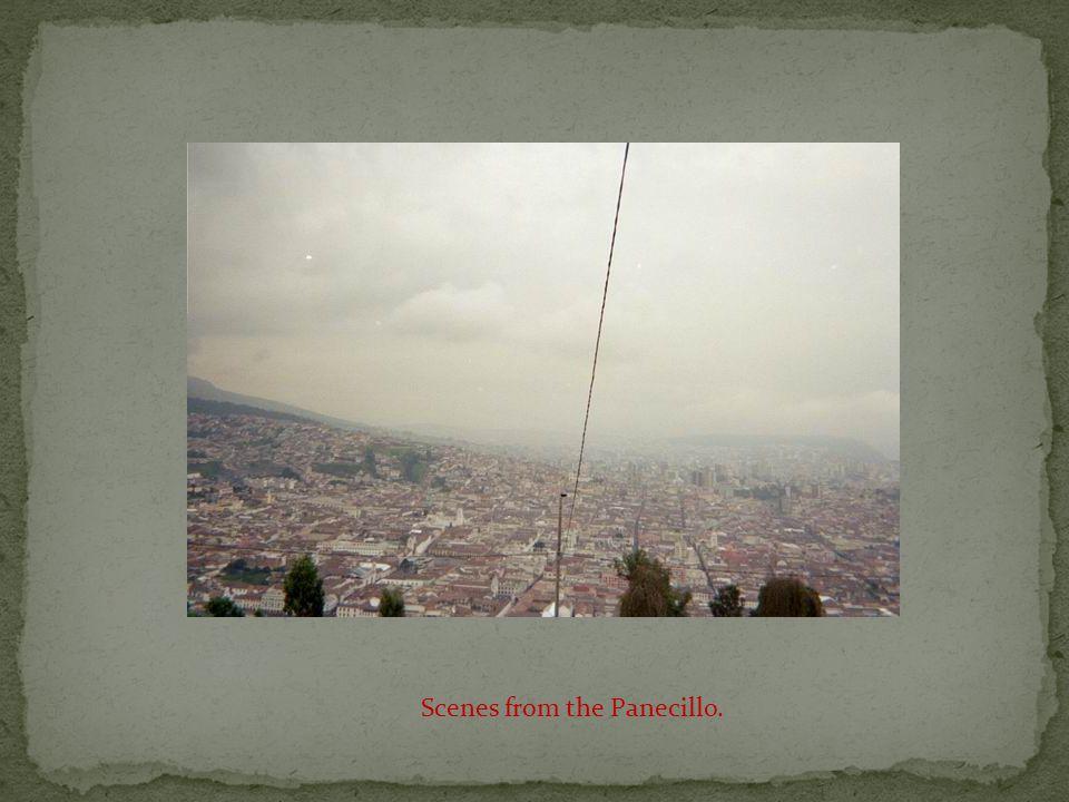 The Panecillo, a statue atop a hill overlooking Quito, Ecuador.