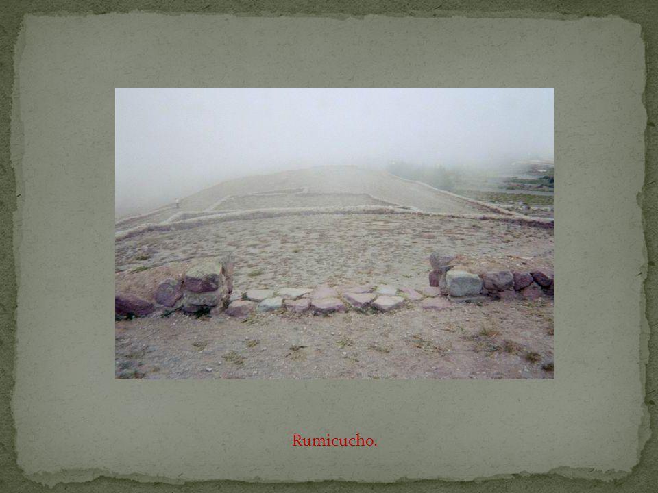 The pre-Inca ruins of Rumicucho.