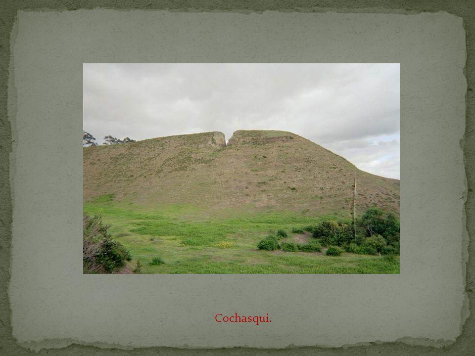 The pre-Inca ruins of Cochasqui.
