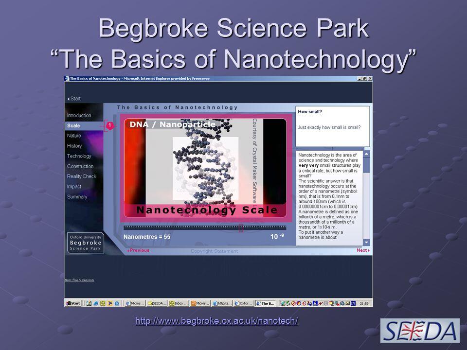Begbroke Science Park The Basics of Nanotechnology http://www.begbroke.ox.ac.uk/nanotech/