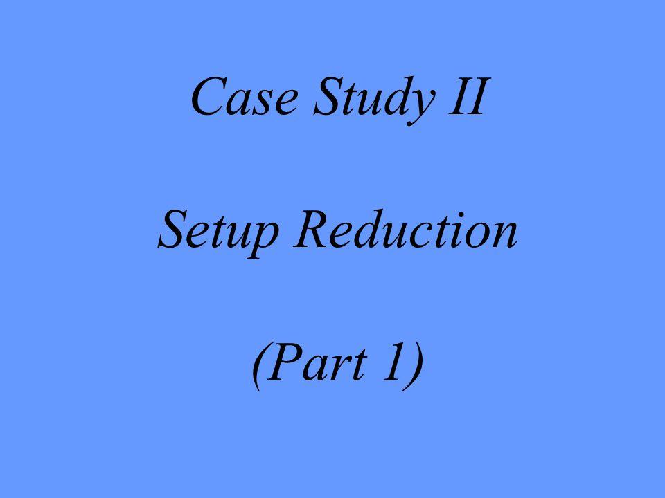Case Study II Setup Reduction (Part 1)