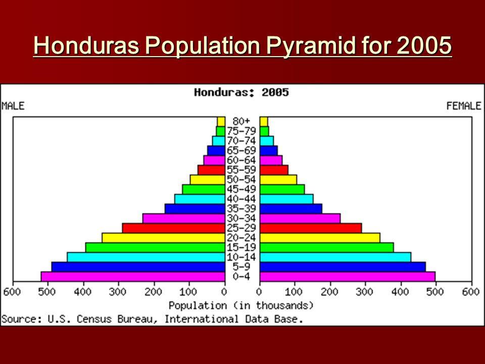 Honduras Population Pyramid for 2005