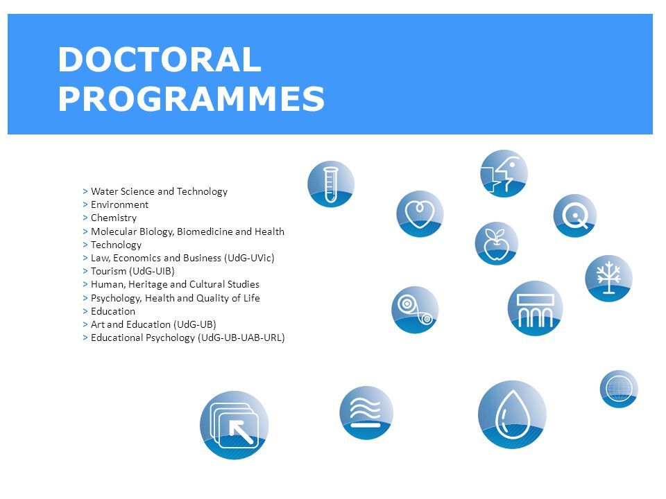 DOCTORAL PROGRAMMES > Water Science and Technology > Environment > Chemistry > Molecular Biology, Biomedicine and Health > Technology > Law, Economics