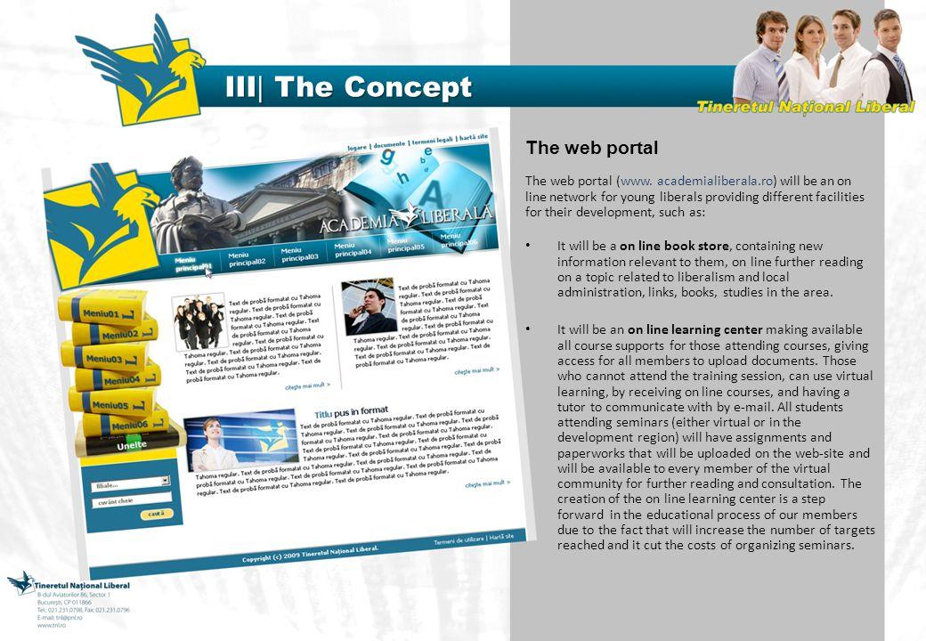 The web portal The web portal (www.