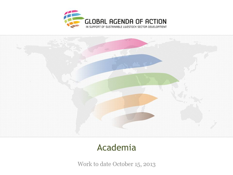 Academia Work to date October 15, 2013