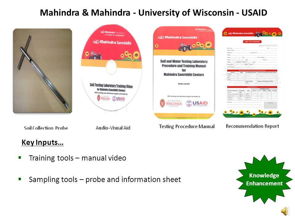 MAHINDRA & MAHINDRA TRACTOR COMPANY AND MAHINDRA SAMRIDDHI