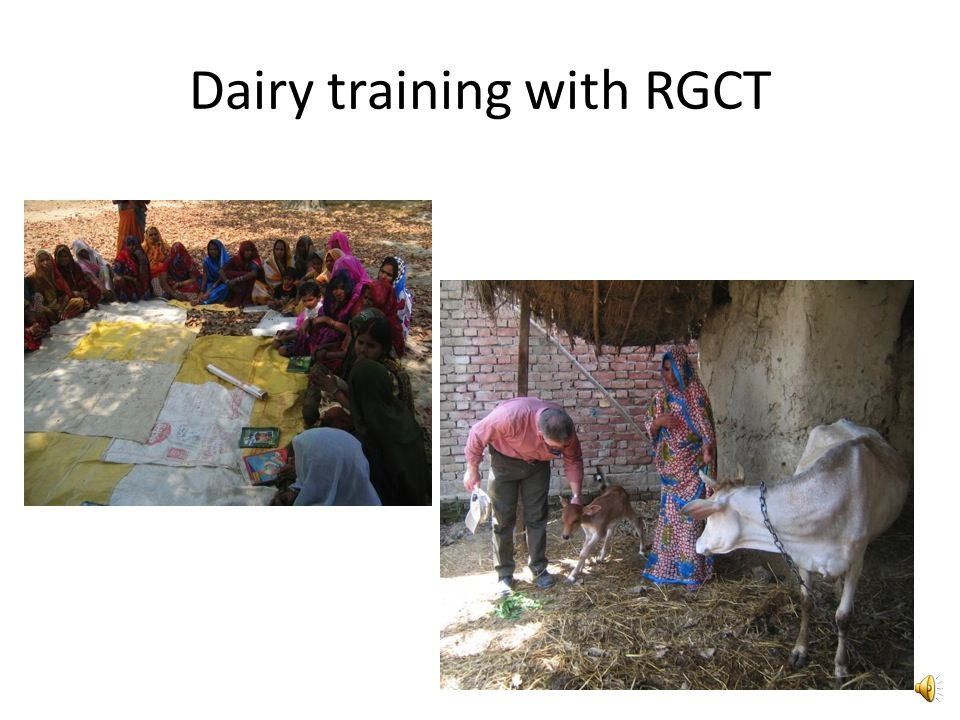 Dairy training with RGCT