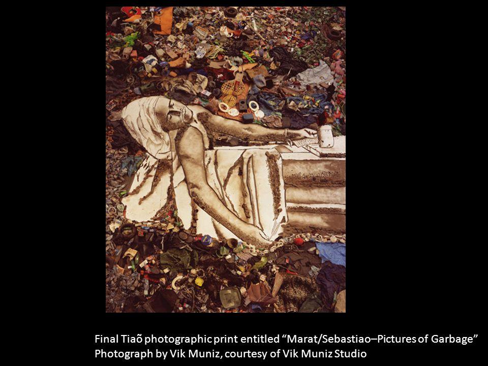Final Tiaõ photographic print entitled Marat/Sebastiao–Pictures of Garbage Photograph by Vik Muniz, courtesy of Vik Muniz Studio