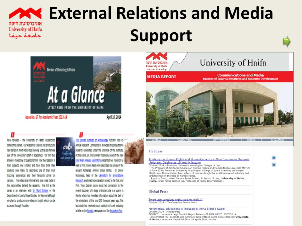 14 External Relations and Media Support Keep Our Community updated on news, achievements and developments