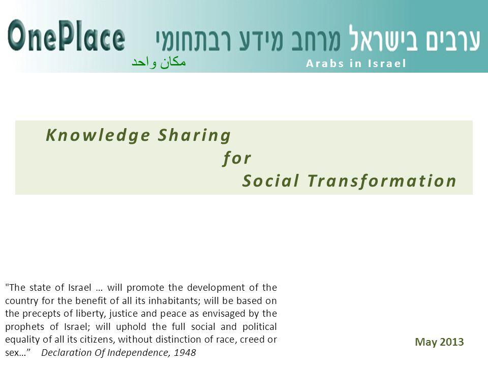 Are you interested in learning and acting in the field of the Arab minority in Israel.