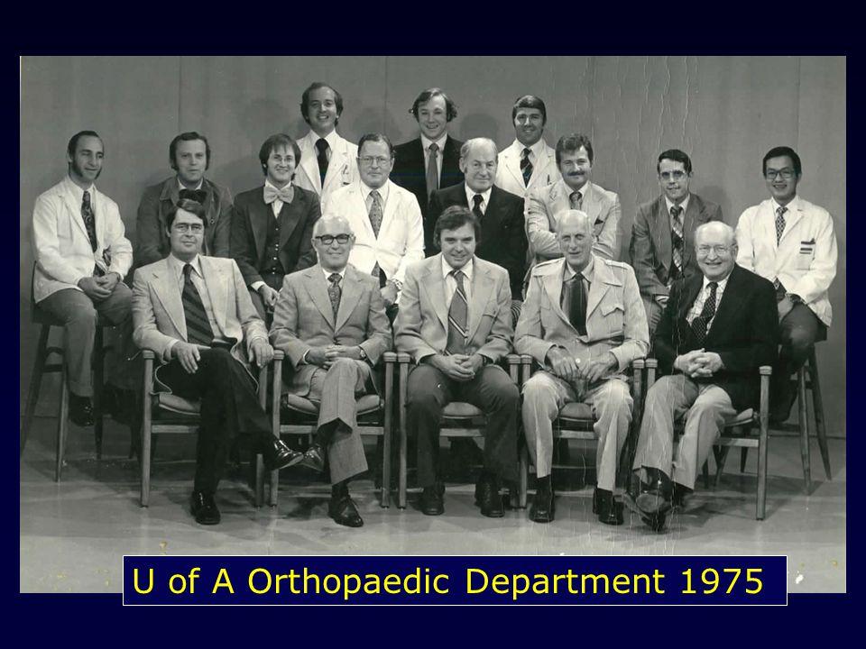 U of A Orthopaedic Department 1975