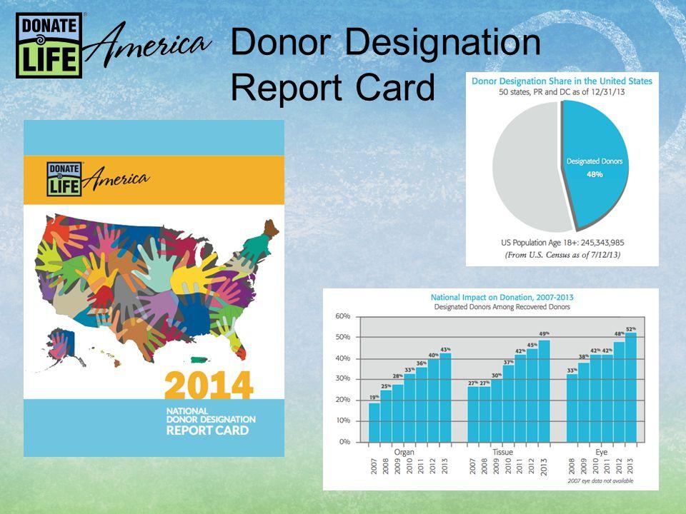Donor Designation Report Card