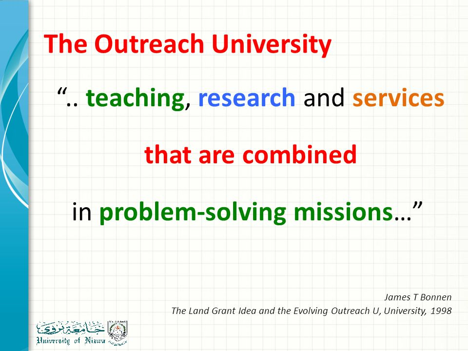 The Outreach University ..