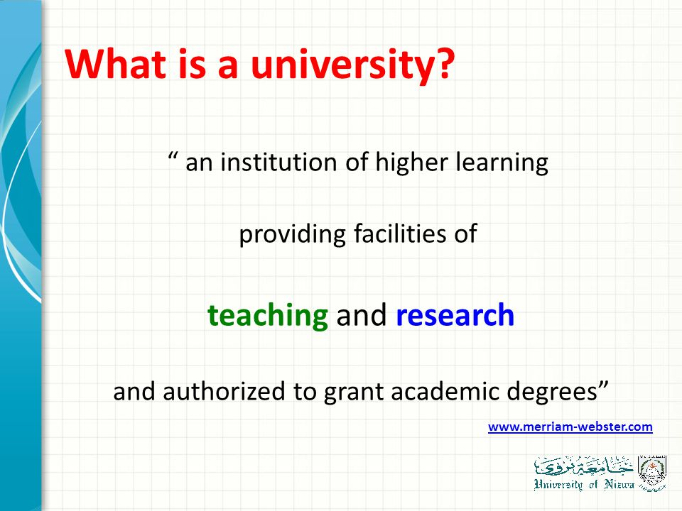 What is a university.