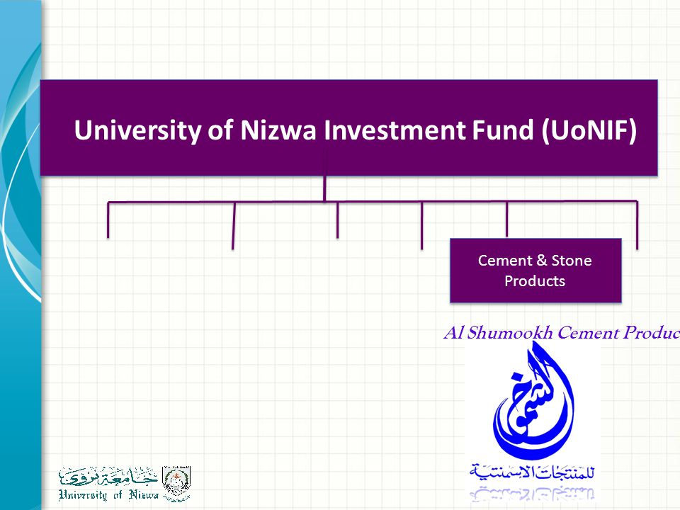 Cement & Stone Products University of Nizwa Investment Fund (UoNIF) Al Shumookh Cement Products