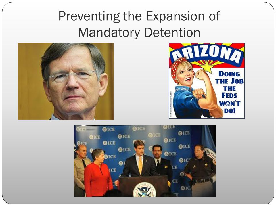 Preventing the Expansion of Mandatory Detention