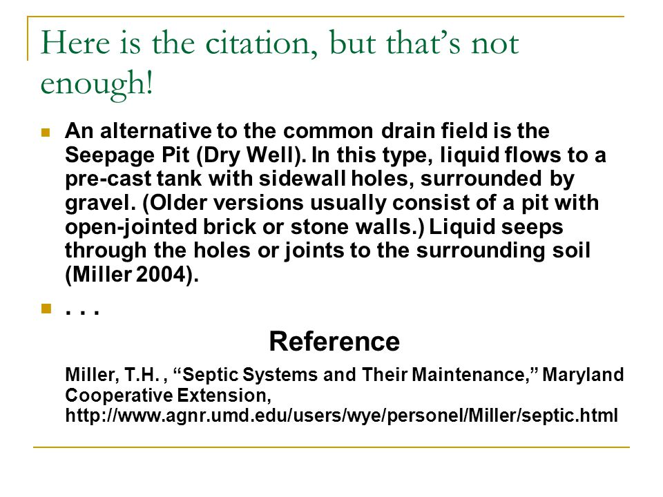 Here is the citation, but that's not enough! An alternative to the common drain field is the Seepage Pit (Dry Well). In this type, liquid flows to a p