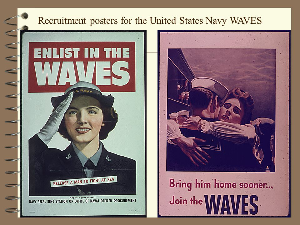 Recruitment posters for the United States Navy WAVES
