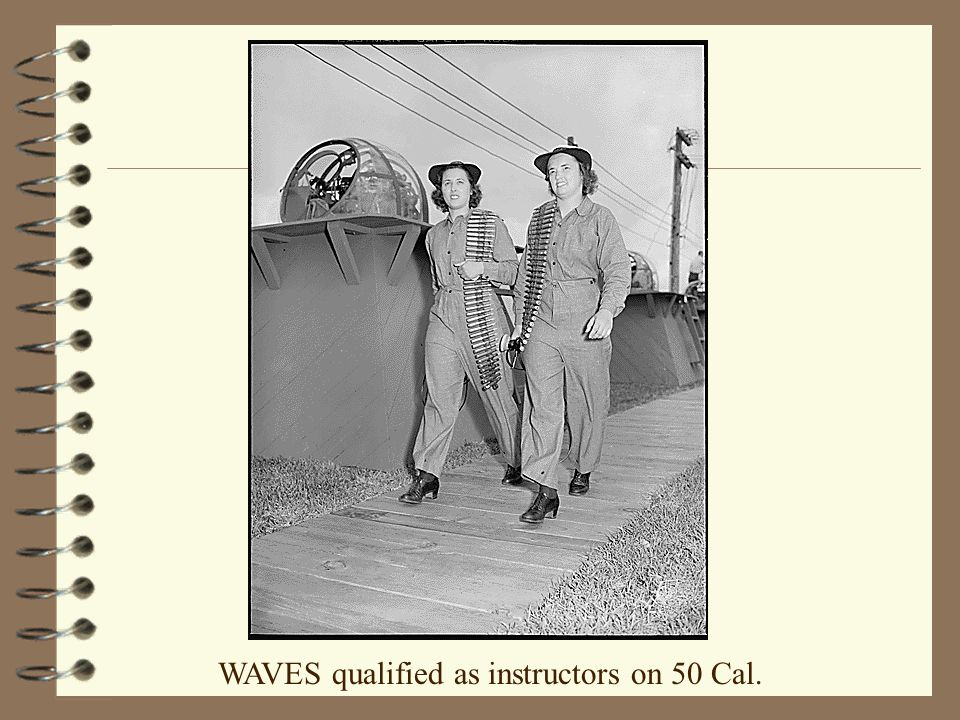 WAVES qualified as instructors on 50 Cal.
