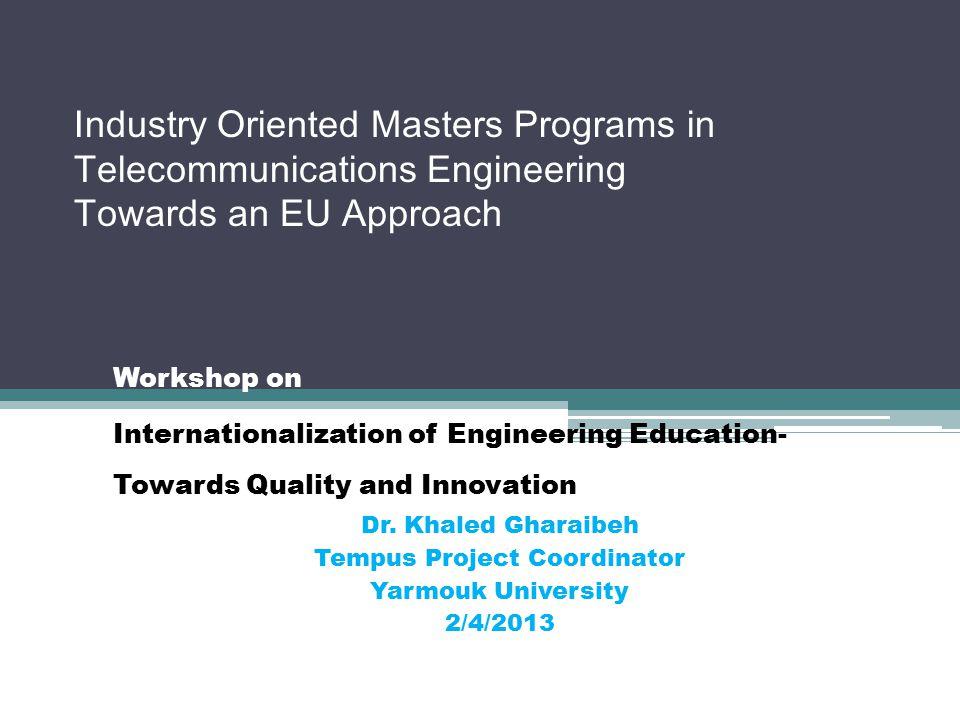 Outline Introduction The Tempus project Program Justification Program Development The Curriculum Courses Conclusions