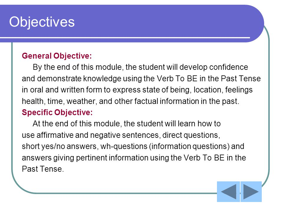 Pre-Test (Affirmative Sentences) Select the best answer.
