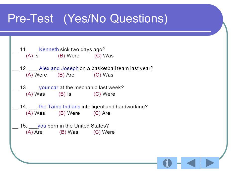 Post Test Answer Key 1.A 11. C 2. C 12. A 3. B 13.