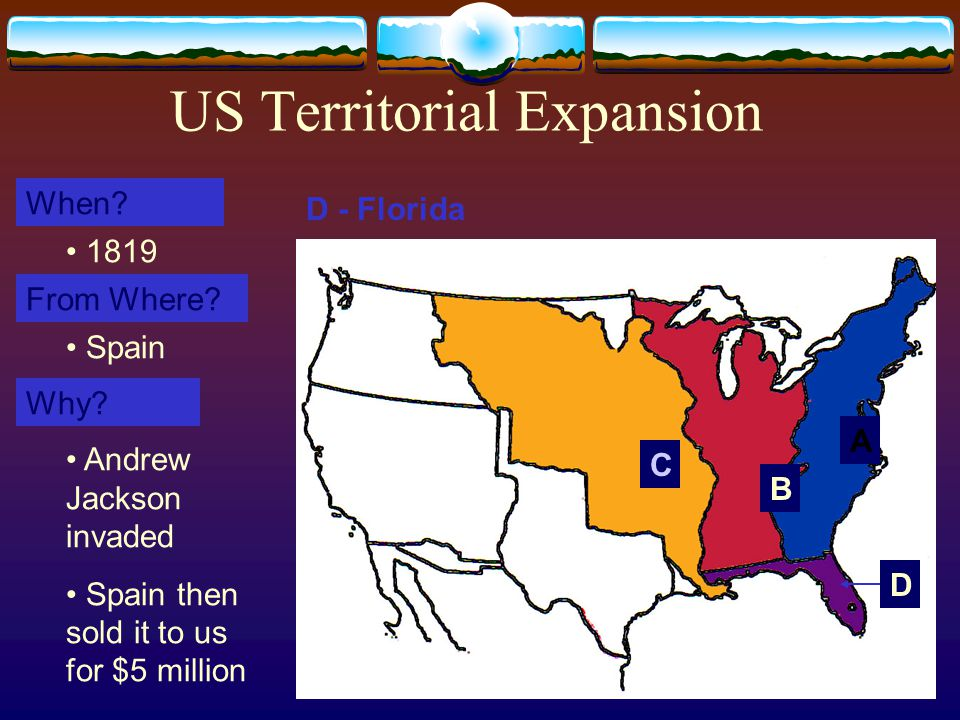 13 US Territorial Expansion A When. From Where. Why.
