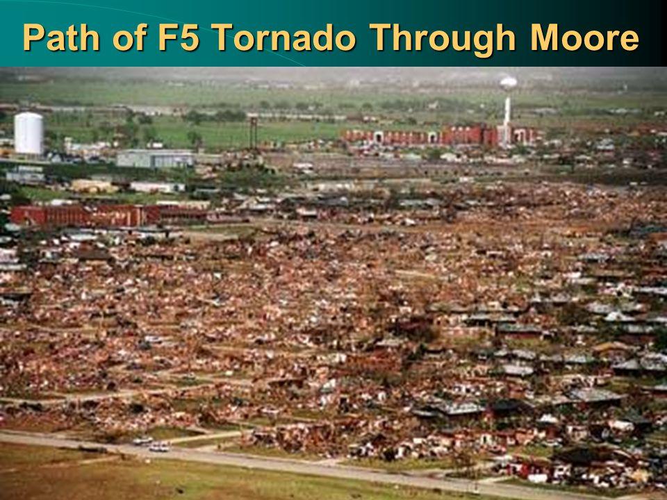 Path of F5 Tornado Through Moore
