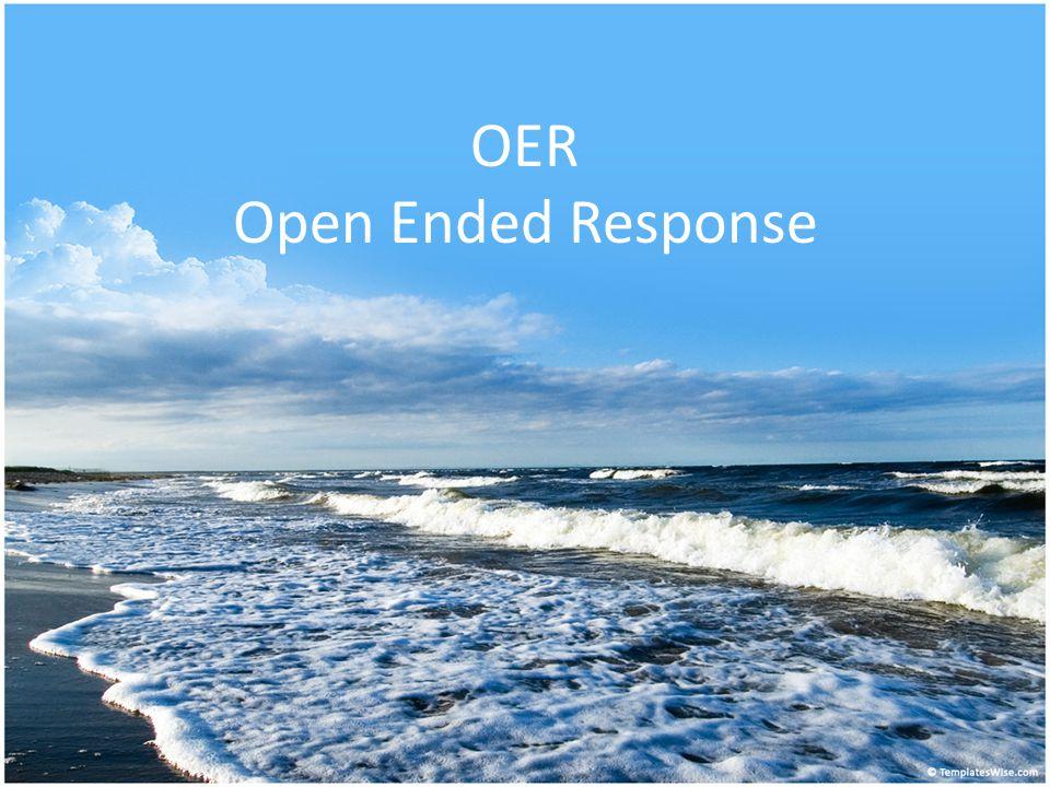 OER Open Ended Response