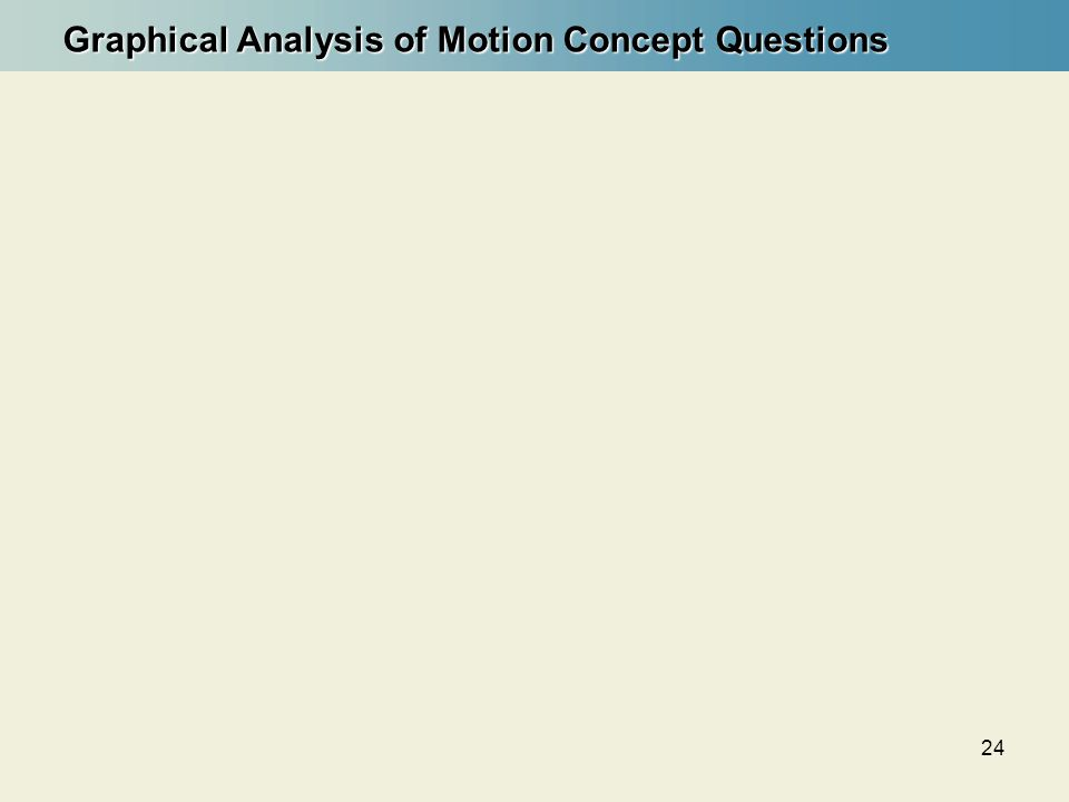 24 Graphical Analysis of Motion Concept Questions