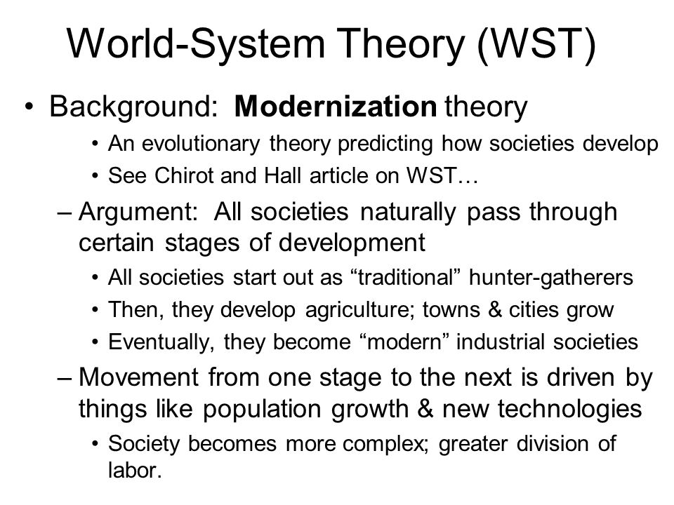 World-System Theory (WST) How does WST view international organizations.