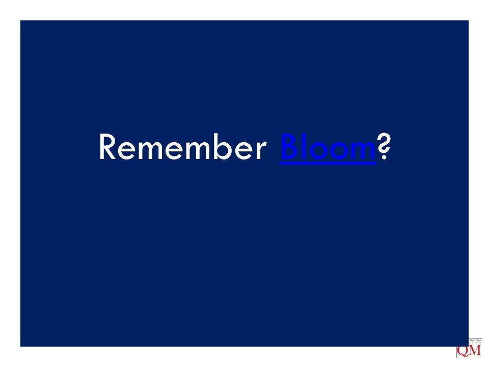 Remember Bloom?Bloom