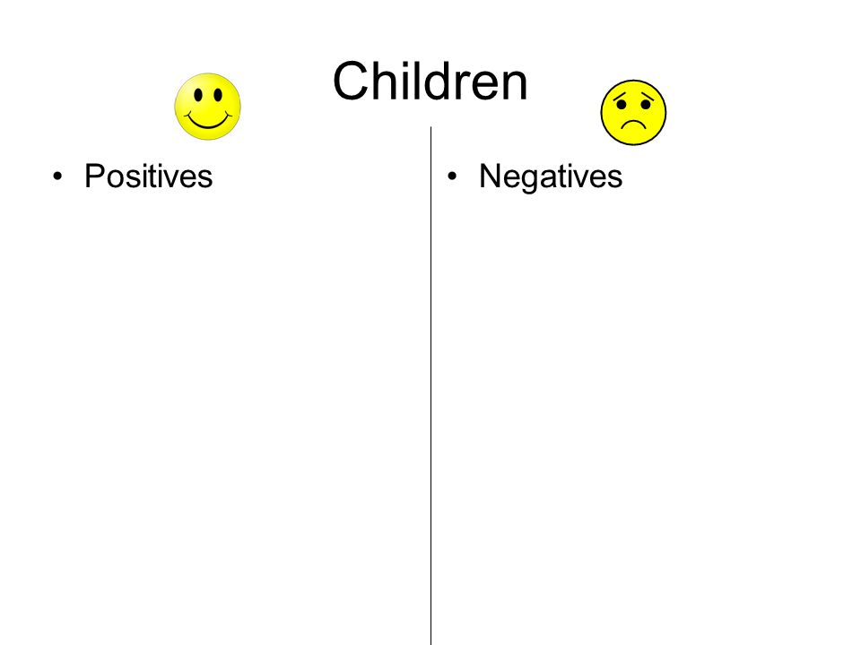 Children PositivesNegatives