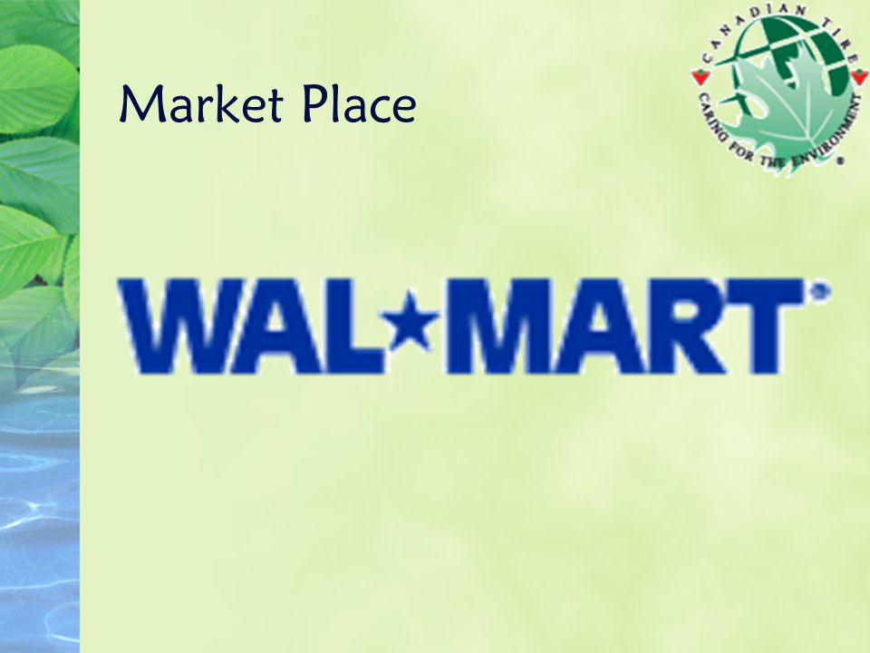 Wal*Mart This [ greening ] is the right thing for the business, for the environment and for the customers, Mr.