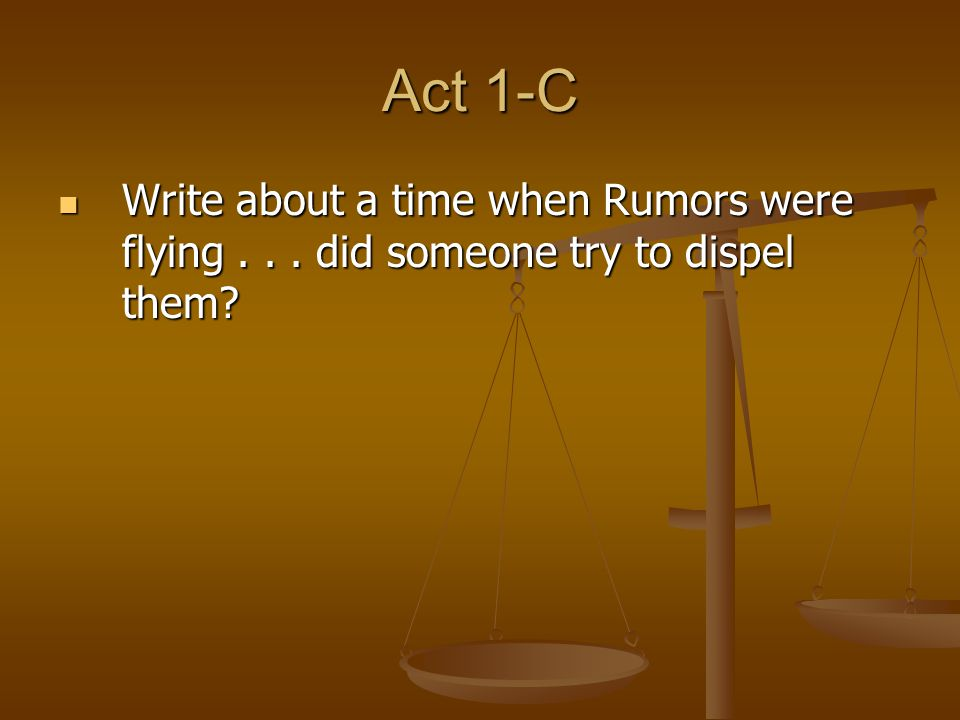 Act I- D Write about a time when your emotions prevented you from making a good choice.