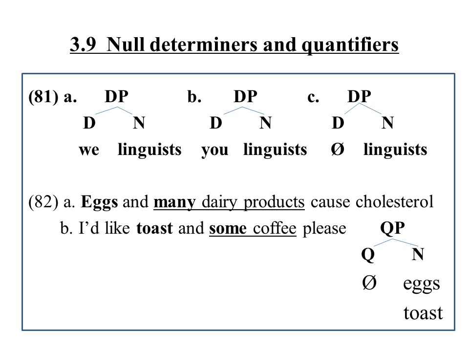 Longobardi (2005) 'Toward a Unified Grammar of Reference' Italian bare arguments are in fact DPs with a null D DP D NP ∂ potatoes ∂ : phonologically null N-to-D raising: obligatory for PNs (proper nouns), impossible for BNs (bare nouns)