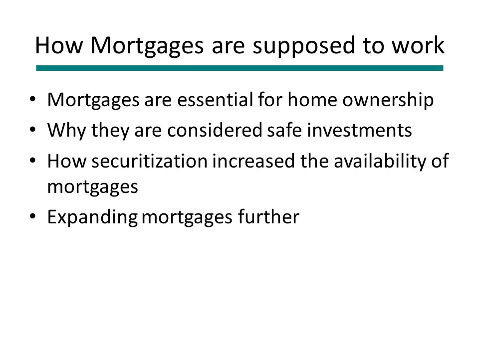 Why it was impossible to quickly resolve the Sub-prime Crisis Each mortgage was owned (in part) by up to 5,000 investors How do you get them to agree to a restatement , a short sale or a haircut .