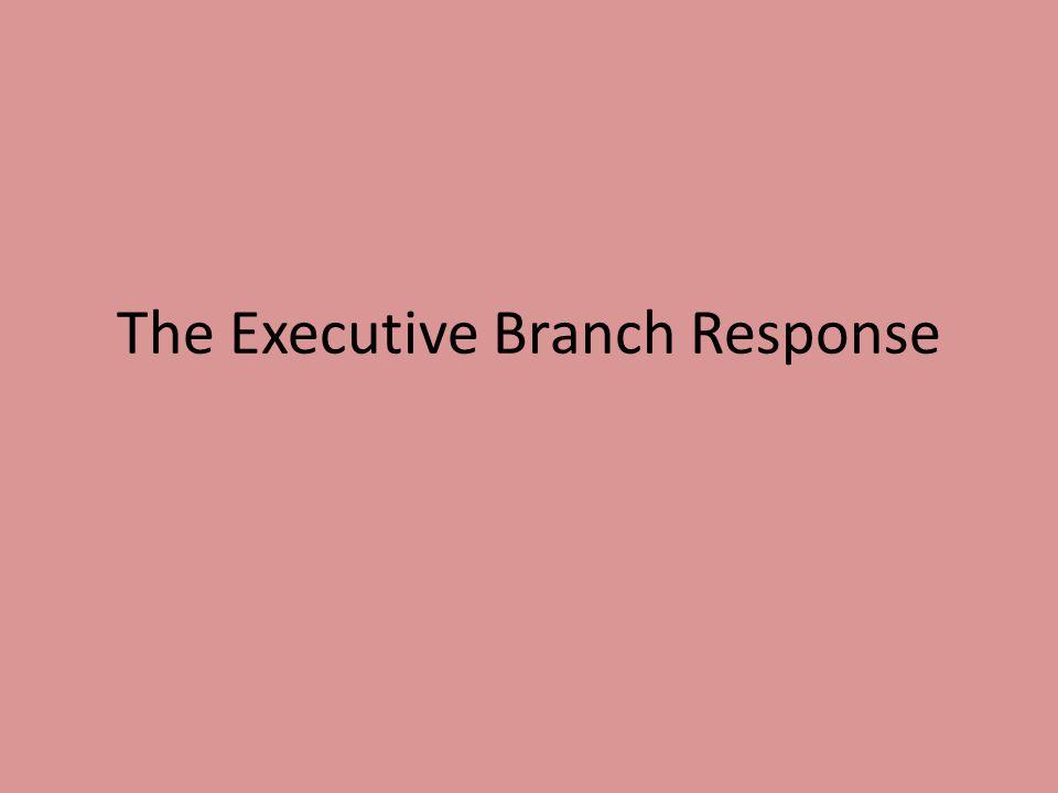 The Executive Branch Response