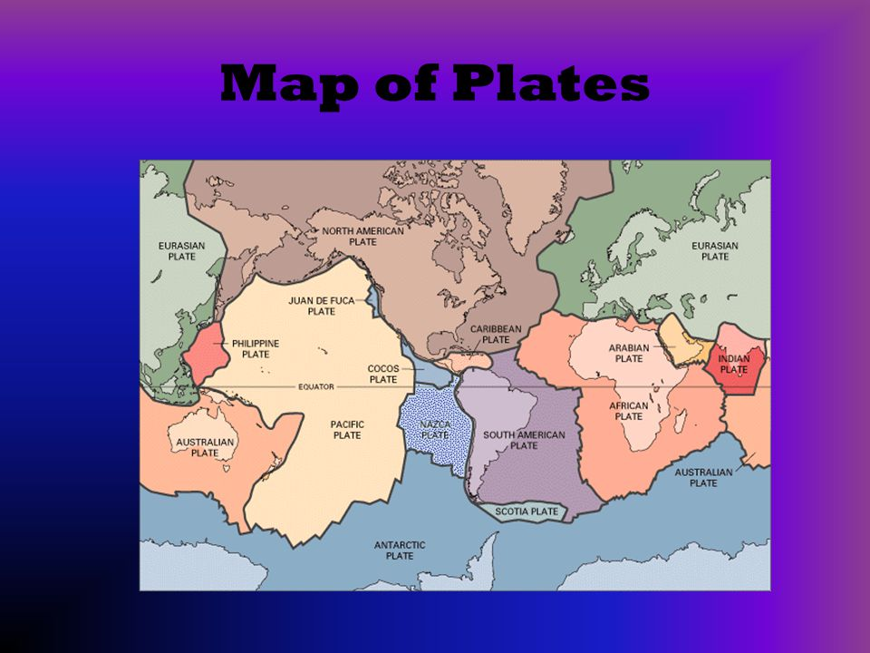 Map of Plates